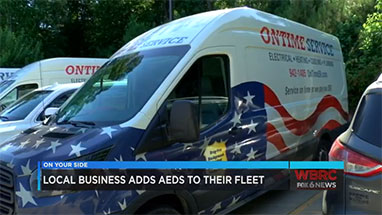 AEDs added to service trucks