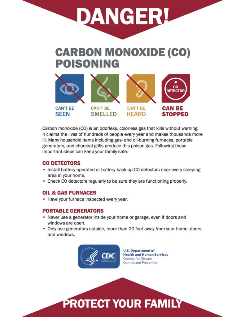 CO Safety Sheet CDC - OnTime Service
