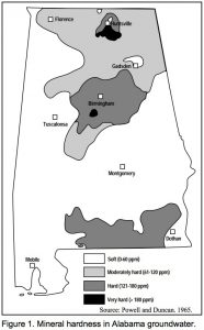 Water Hardness Levels in Alabama (Birmingham)